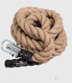 Gym Climbing Rope, 4.5 m / 50mm, Hemp - Battle Rope