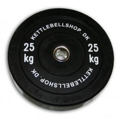 Bumper Plate 25 kg fra KettlebellShop.dk