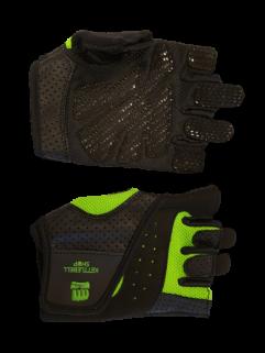 Fitnesshandschuh, neongrün / schwarz