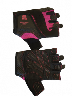 Fitnesshandschuh schwarz / pink