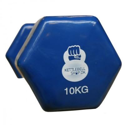Vinyl 10 kg håndvægt fra KettlebellShop™