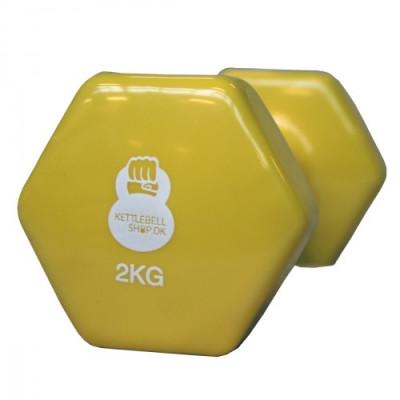 Vinyl 2 kg håndvægt fra KettlebellShop™