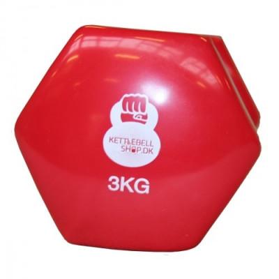 Vinyl 3 kg håndvægt fra KettlebellShop™