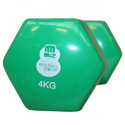 Vinyl 4 kg håndvægt fra KettlebellShop™