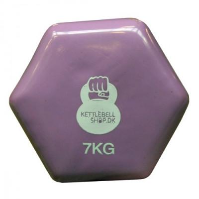 Vinyl 7 kg håndvægt fra KettlebellShop™