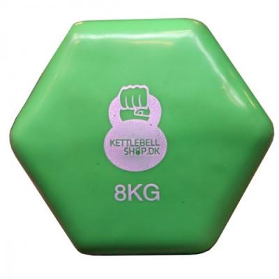 Vinyl 8 kg håndvægt fra KettlebellShop™