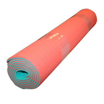 Orange, Yoga matte, safe rubber surface by KettlebellShop™